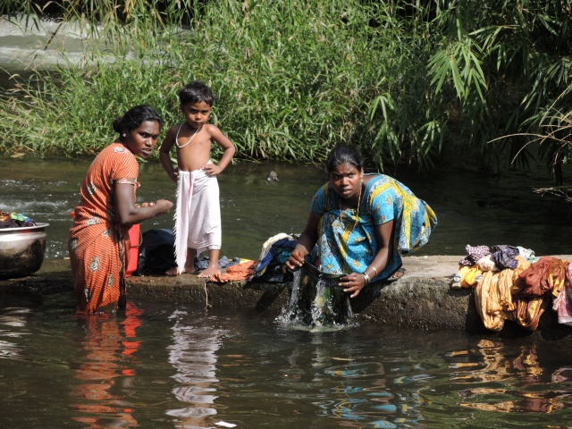 Women washing